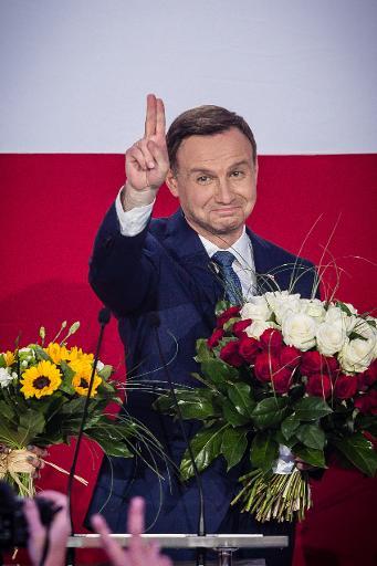 Le nouveau Président polonais Andrzej Duda le 24 mai 2015 à Varsovie © WOJTEK RADWANSKI AFP