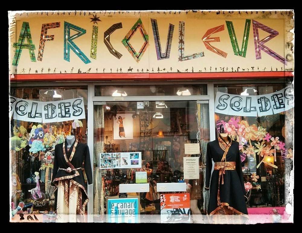 La devanture du magasin Africouleur de Férouz Allali. ©  DR