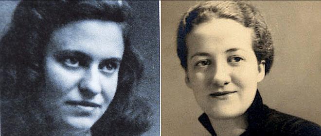 Marie-José Chombart de Lauwe (à gauche) et Germaine Tillion (à droite), ici au début des années 40