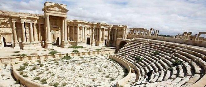Une photo prise le 14 mars 2014 du théâtre de Palmyre, à 215 km au nord-est de Damas (Syrie).