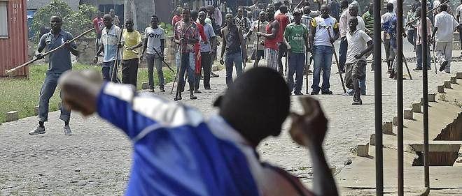 Une manifestation d'opposition au président Nkurunziza, à Bujumbura le 25 mai 2015.
