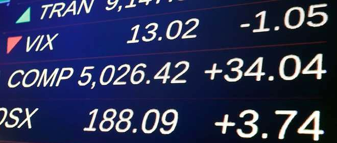 A screen above the floor of the New York Stock Exchange, shows the closing number for the Nasdaq composite index, Friday, March 20, 2015. The Nasdaq composite index inched closer to its all-time high set at the height of the dot-com bubble. (AP Photo/Richard Drew)/NYRD115/845384939315/1503202158