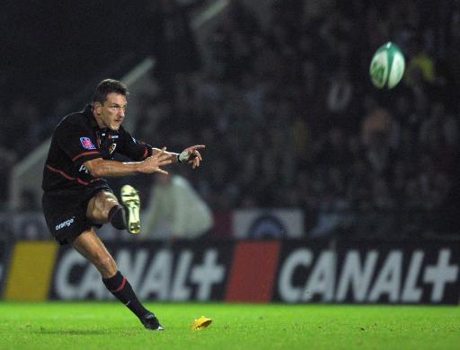 Michel Marfaing, ancien ailier du Stade Toulousain, le 17 octobre 2001 au stade Jean Bouin a Paris © Jacques Demarthon AFP/Archives