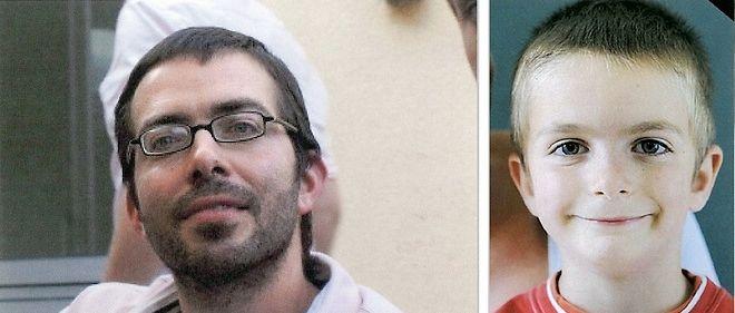 Sylvain Jouanneau et son fils Mathis, disparu en 2011.