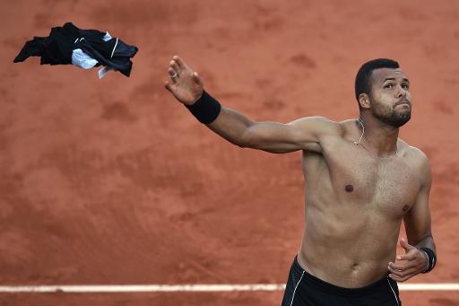 Jo-Wilfried Tsonga, le 2 juin 2015 à Roland-Garros © Pascal Guyot AFP