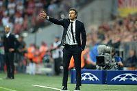 En cas de victoire face à la Juve ce samedi soir, Luis Enrique et le Barça s'offriraient un triplé championnat-Coupe-Ligue des champions. ©CHRISTOF STACHE