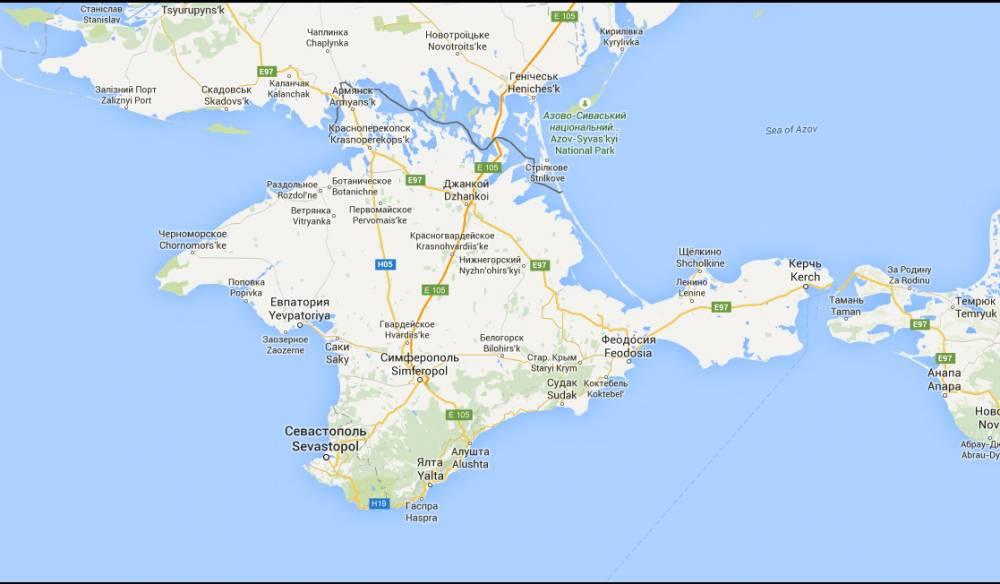 Les frontières de l'Uklraine vue de Russie ©  Google Maps