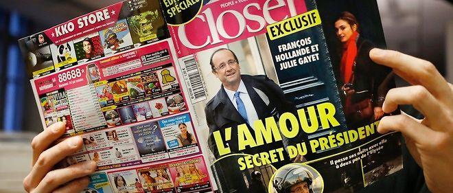 """Après moult rumeurs, """"Closer"""" publie le 10 janvier 2014 les photos du président sortant au petit matin de l'appartement où il rencontre l'actrice Julie Gayet."""