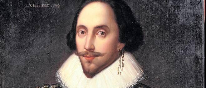 Portrait du dramaturge anglais William Shakespeare (1564-1616) - Peinture de Louis Coblitz (1814-1863), 1847 - Musée national du château de Versailles.