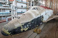 La navette spatiale Bourane, trouvée à l'abandon par le photographe Ralph Mirebs.