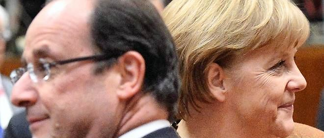François Hollande et Angela Merkel, photo d'illustration.