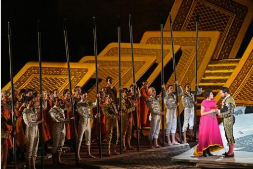 Répétition de l'opéra Carmen sur la scène des Chorégies d'Orange, le 5 juillet 2015 © BORIS HORVAT AFP