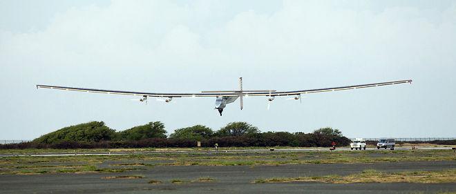 L'avion Solar Impulse 2, piloté par André Borschberg, s'est posé à Hawaï, le 3 juillet dernier.