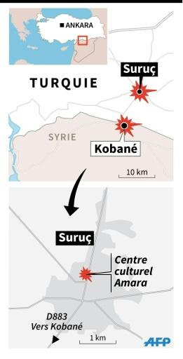 Attentats à Suruç et Kobané © I.Vericourt/J.Jacobsen, jj/abm AFP