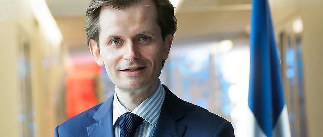 Le député Guillaume Larrivé, orateur du groupe Les Républicains sur le projet de loi sur le droit des étrangers.