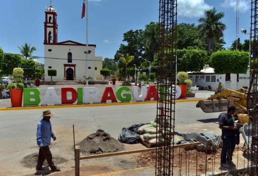 Vue de la place centrale de Badiraguato, le 17 juillet 2015, dans l'Etat de Sinaloa (Mexique) région natale de El Chapo © Fernando Brito AFP