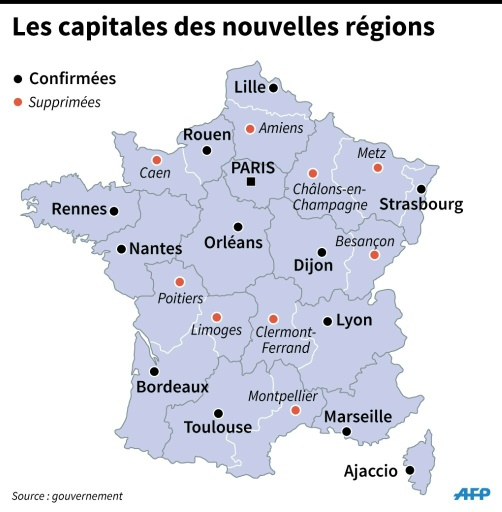 Dijon carte de France » Vacances - Guide Voyage
