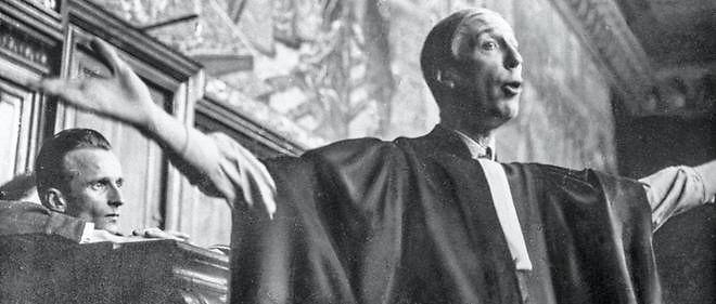 27 janvier 1947, Paris, France - Maurice Garçon déploie tout son talent pour défendre René Hardy, résistant accusé de trahison.