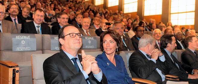 François Hollande et la ministre des Affaires sociales Marisol Touraine.