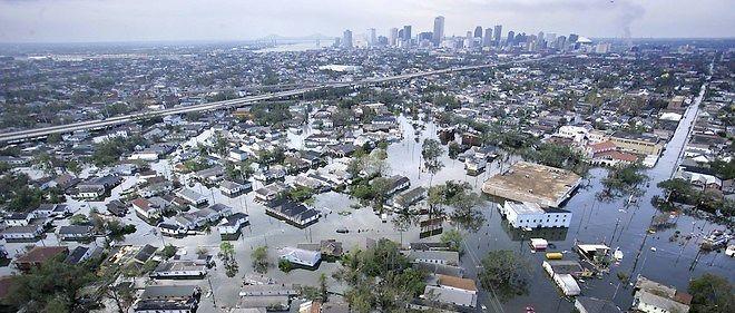 Lorsque l'ouragan Katrina a touché La Nouvelle-Orléans en 2005, environ 80 % de la ville fut inondé par l'eau qui monta à plus de six mètres de haut.