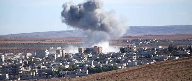 Une attaque du groupe État islamique à Kobané, en Syrie. Photo d'illustration.
