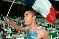 Stéphane Diagana, champion du monde en 1997 à Athènes sur le 400 mètres. ©Eric FEFERBERG