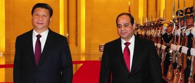 Les présidents chinois, Xi Jinpin, et égyptien, Al Sissi.