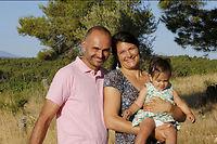 Laurent et Cylia Pratx, Clos Serre Romani ©Louise Oligny
