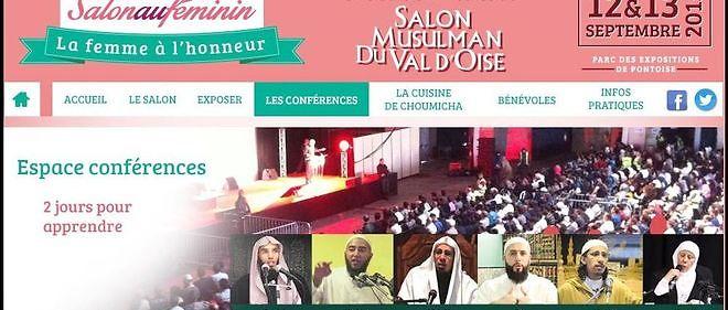 Capture d'écran du site du Salon musulman du Val-d'Oise.