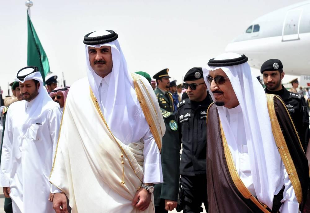 Qatar Arabie saoudite Salman Tamim © FAYEZ NURELDINE AFP