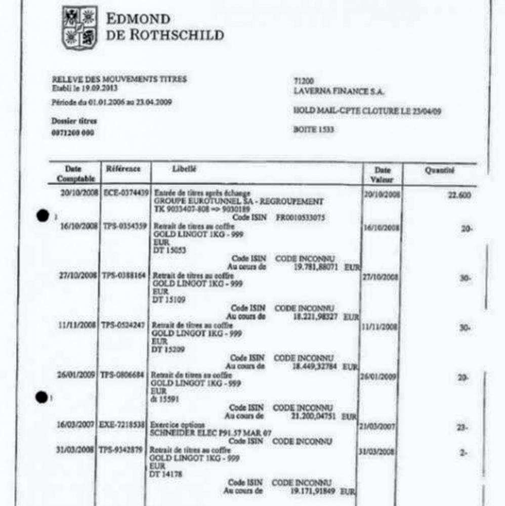 Capture d'écran du document mis en ligne par Mediapart.