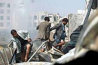 Les bombardements se poursuivent sur la capitale Sanaa, alors que la coalition prépare une offensive terrestre. ©MOHAMMED HUWAIS