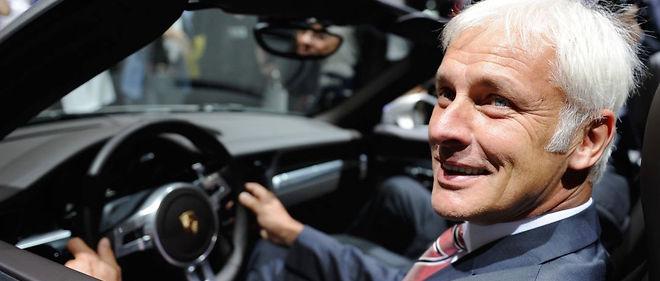 Matthias Müller, actuel président de Porsche, prend les rênes de Volkswagen, après le scandale planétaire de triche aux normes antipollution.