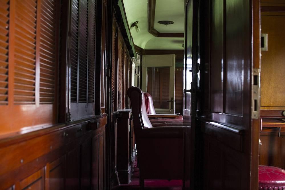 Intérieur du wagon impérial. ©  Antoine Galindo