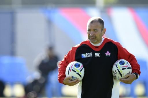 L'entraîneur du Japon Eddie Jones en séance d'entraînement lors du Mondial de rugby, le 28 septembre 2015 à Warwick (centre de l'Angleterre) © Martin Bureau AFP/Archives