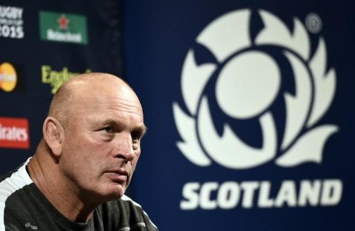 L'entraîneur de l'Ecosse Vern Cotter en conférence de presse à la Royal Grammar school de Newcastle lors du Mondial de rugby, le 1er octobre 2015 © Lionel Bonaventure AFP