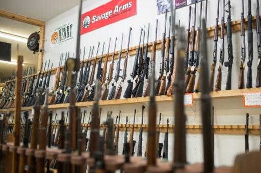 Des armes en vente dans une boutique de Roseburg, dans l'Oregon, le 2 octobre 2015 © CENGIZ YAR, JR. AFP