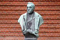 Une statue d'Alfred Nobel, photo d'illustration. ©JONATHAN NACKSTRAND