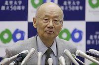 Le professeur Emeritus Satoshi Omura, l'un des Prix Nobel de médecine 2015 ©Shizuo Kambayashi/AP/SIPA
