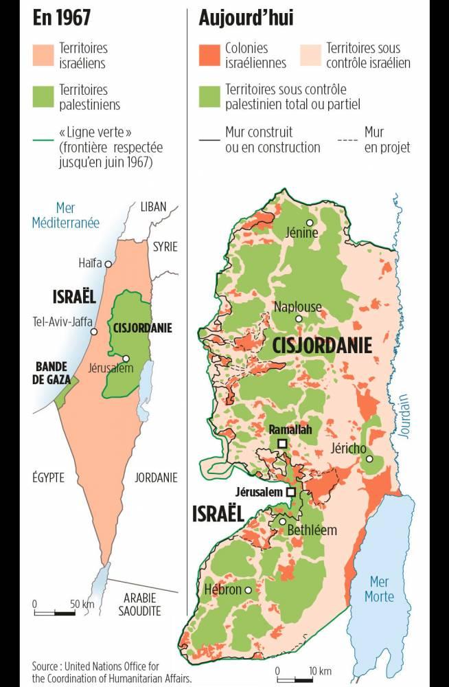 Évolution de la colonisation israélienne en Cisjordanie de 1967 à aujourd'hui