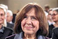 Svetlana Alexievitch est l'auteur de livres poignants sur la catastrophe nucléaire de Tchernobyl ou la guerre d'Afghanistan, interdits dans son pays. ©DANIEL ROLAND