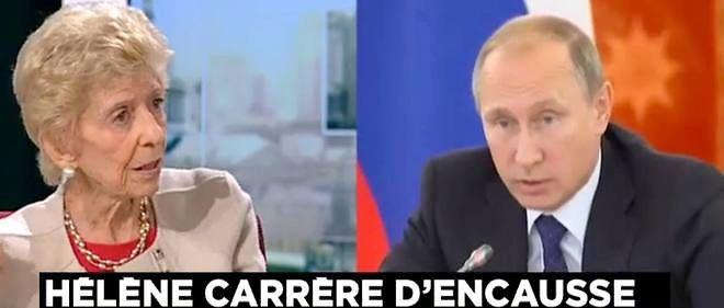 Hélène Carrère d'Encausse estime que l'Occident fait un mauvais procès à Vladimir Poutine.