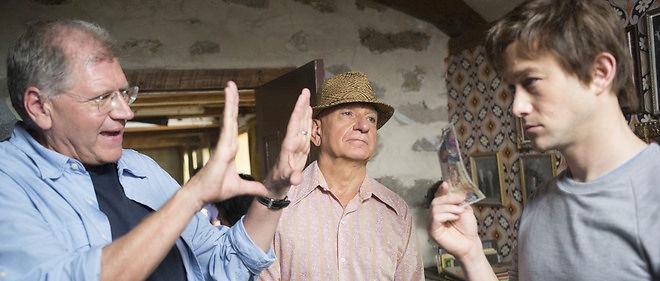 """Robert Zemeckis avec Joseph Gordon-Levitt sur le tournage de """"The Walk"""""""