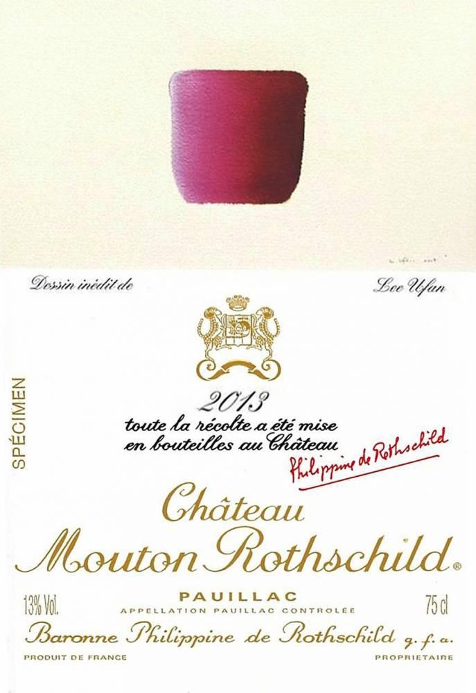 Etiquette du château Mouton Rothschild 2013. ©  Château Mouton Rothschild