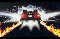Lorsqu'elle démarre en trombe, la DeLorean de Doc laisse une sacrée trace sur le macadam...