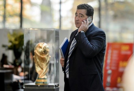 Domenico Scala au siège de la FIFA le 20 octobre 2015 à Zurich © FABRICE COFFRINI AFP