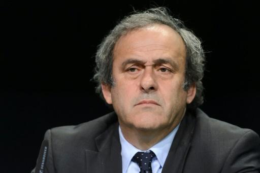 Michel Platini, président de l'UEFA, en conférence de presse lors du 65e congrès de la Fifa le 10 octobre 2015 à Zurich © Fabrice Coffrini AFP/Archives