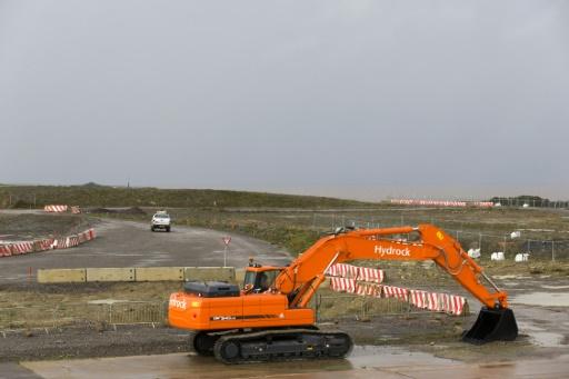 Le site de construction de la centrale nucléaire de Hinkley Point C, dans le sud-ouest de l'Angleterre, le 21 octobre 2013 © Justin Tallis AFP/Archives