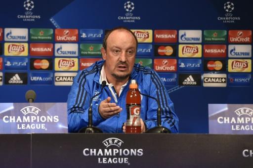 Rafael Benitez lors d'une conférence de presse le 20 octobre 2015 au Parc des Princes à Paris © MIGUEL MEDINA AFP