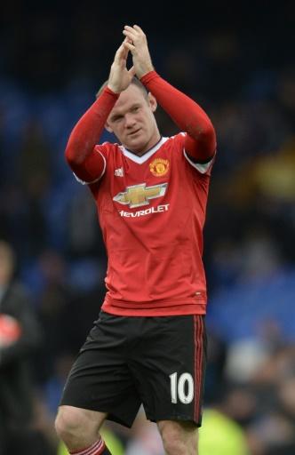 L'attaquant de Manchester United Wayne Rooney buteur contre Everton en Premier League, le 17 octobre 2015 à Liverpool © Oli Scarff AFP